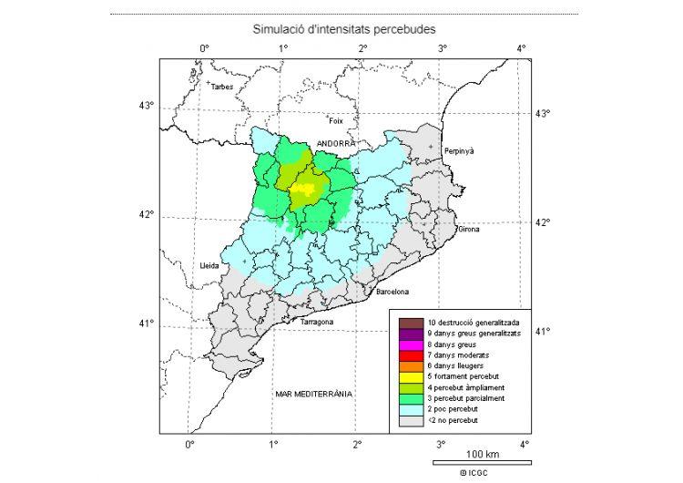 Un terratrèmol de grau 4,3 amb epicentre a l'Alt Urgell es deixa sentir a diversos punts de Catalunya
