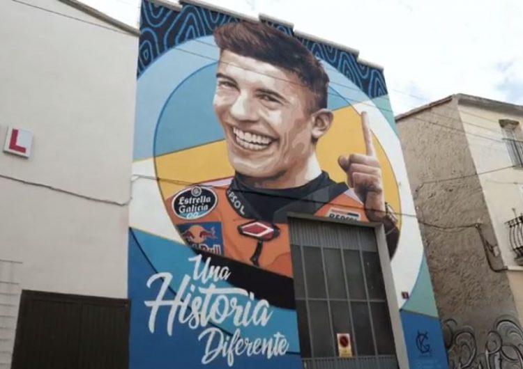 Marc Márquez, protagonista d'un mural de Penelles en homenatge a la seva carrera esportiva i al recent campionat del món