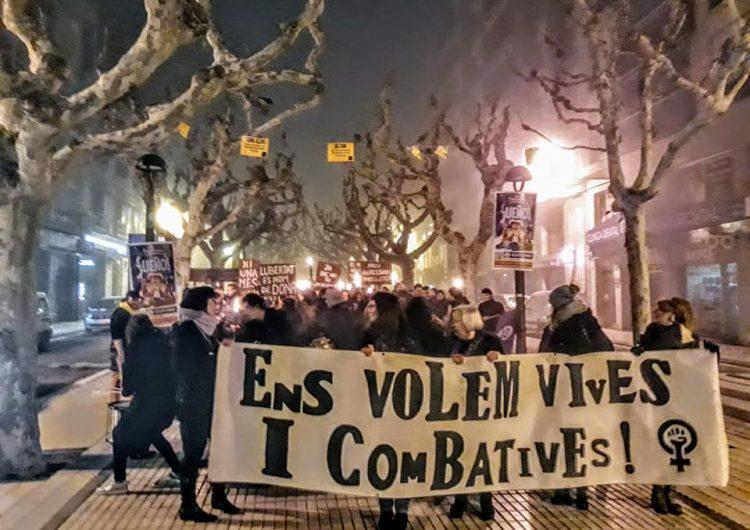 Marxa Nocturna Feminista a Balaguer en motiu del Dia Internacional per l'Eliminació de la Violència envers les Dones