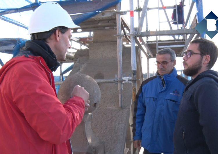 Montgai restaura la façana de l'Església de la Mare de Déu de l'Assumpció