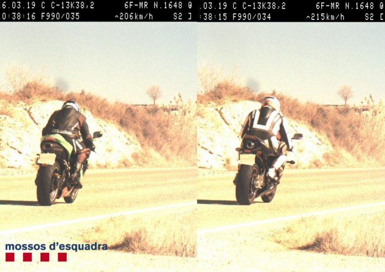 Enxampats dos motoristes a més de 200 km/h a la C-13 a Camarasa