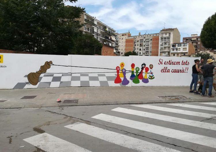 La CUP de Balaguer repinta el mural que va ser atacat abans de les municipals