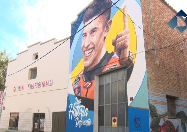 Marc Márquez, el nou protagonista d'un mural a Penelles