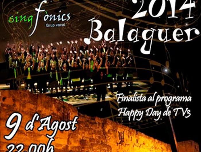 Singfònics, grup concursant a 'Oh happy day', en concert al Castell Formós
