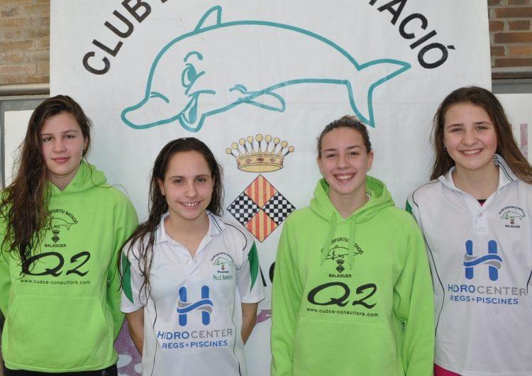 Quatre nedadores del CEN Balaguer al Campionat de Catalunya Absolut d'Hivern