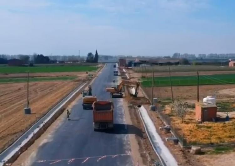 La nova carretera de Bellcaire d'Urgell a Linyola, a vista de drone