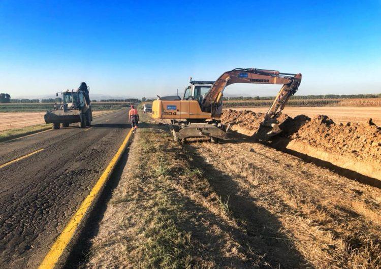 S'inicien les obres de la carretera de Linyola a Bellcaire d'Urgell