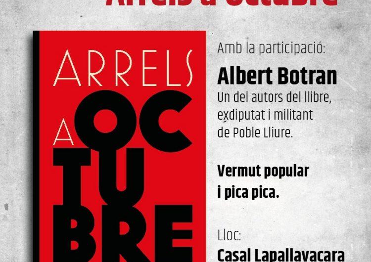 """Presentació del llibre """"Arrels a Octubre"""" a Balaguer amb Albert Botran"""