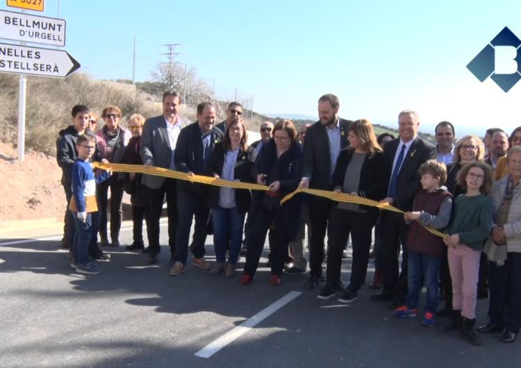 Rosa Ma Perelló inaugura les millores de la carretera que uneix Bellmunt, Penelles i Castellserà