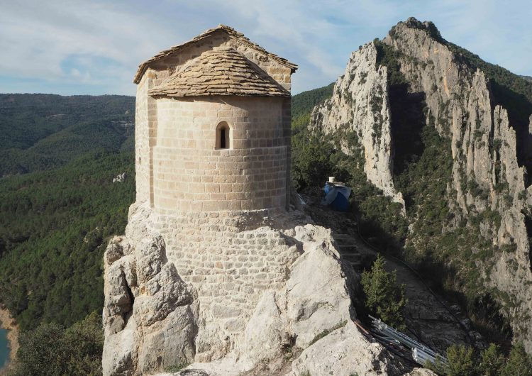Finalitzen les obres de restauració de l'ermita de la Pertusa a Àger