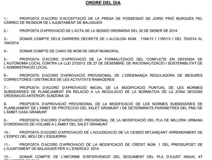 L'adjudicació del Molí de l'Esquerrà per transformar-lo en alberg, al ple municipal de Balaguer