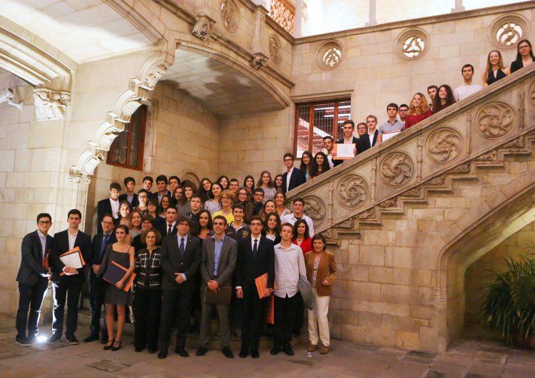 Dos alumnes de l'IES Els Planells d'Artesa de Segre, distingits als Premis Extraordinaris de Batxillerat