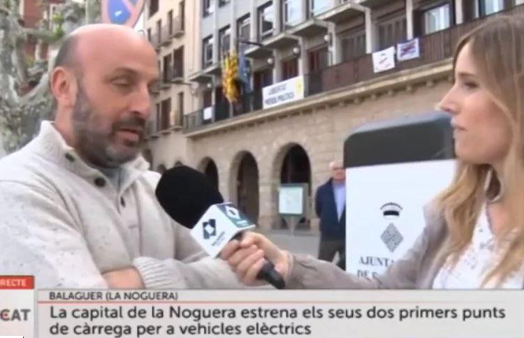 Els nous punts de càrrega de cotxes elèctrics de Balaguer, a Connecti.cat