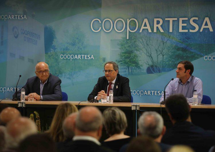 Quim Torra presideix l'acte commemoratiu del 60è aniversari de la Cooperativa d'Artesa de Segre