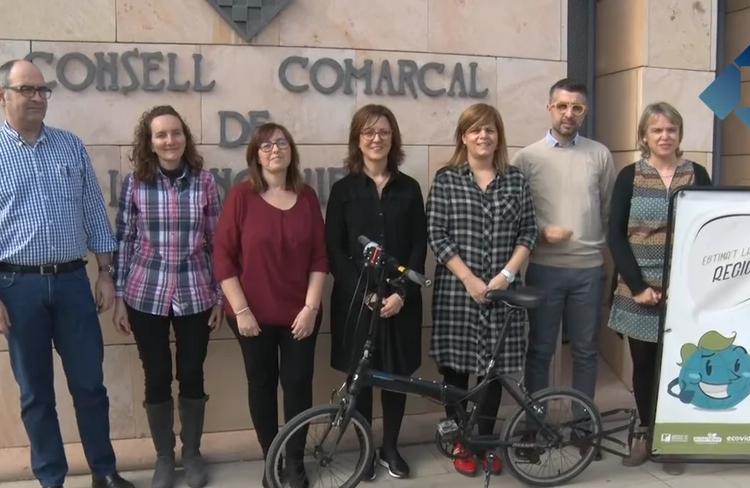 """El Consell Comarcal presenta la campanya de reciclatge """"Estima't la natura, recicla"""""""