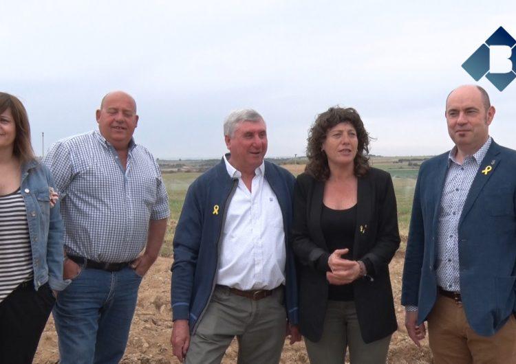 La consellera d'Agricultura, Teresa Jordà, presideix la posada en marxa de l'última fase del canal Algerri-Balaguer