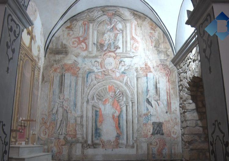 Butsènit d'Urgell recupera unes pintures del segle XVIII a l'interior de l'església