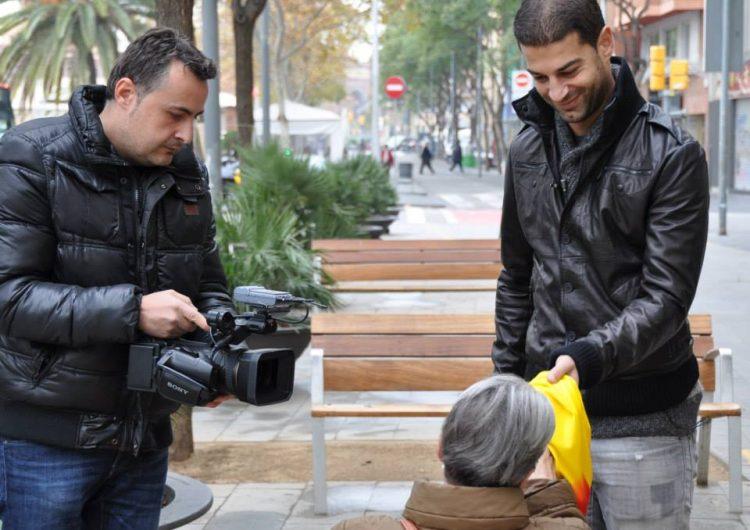 Balaguer Televisió roda l'espot del 'Catalunya – Cap Verd' amb Gerard López