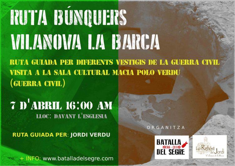 L'Associació Batalla del Segre de Balaguer organitza una visita guiada per vestigis de la Guerra Civil a Vilanova de la Barca