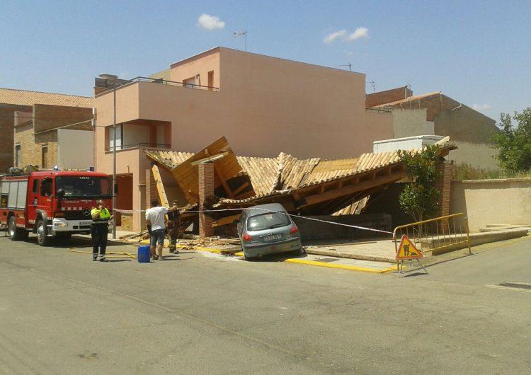 Un jove s'estampa contra el safareig de Vallfogona de Balaguer