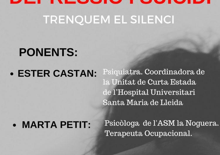 """L'Associació de Salut Mental de la Noguera organitza una xerrada sobre """"La depressió i el suïcidi"""""""