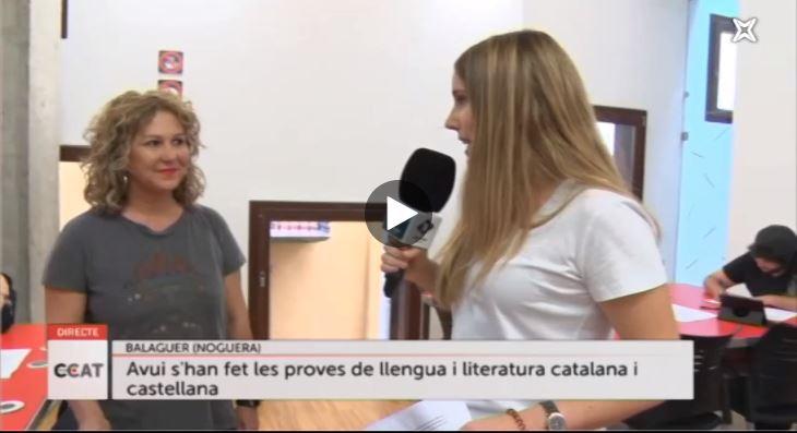 El primer dia de selectivitat amb els estudiants de Lapallavacara, a Connecti.cat