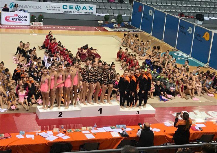Or i bronze de les noies del Club de Gimnàstica Rítmica de Balaguer a la Copa Catalana de conjunts