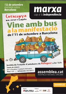 S'avança mitja hora la sortida dels autobusos de Balaguer per anar a la manifestació