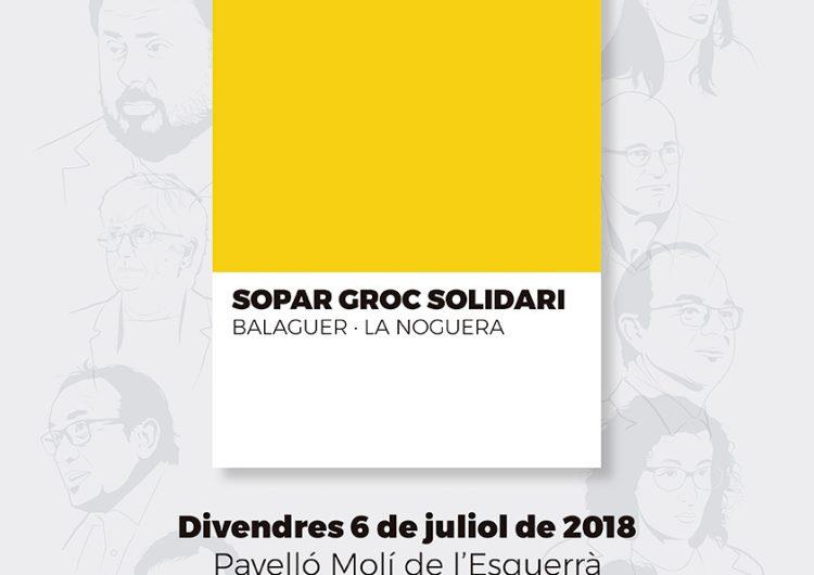 Organitzen un 'Sopar Groc Solidari' a Balaguer en suport als polítics presos i exiliats