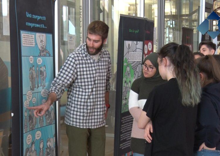 """Els escolars de la comarca visiten """"Sota pressió"""" a l'Oficina Jove de la Noguera"""