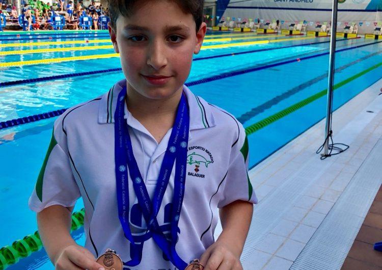 El nedador Jordi Suñé del CEN Balaguer aconsegueix dos bronzes al Campionat de Catalunya