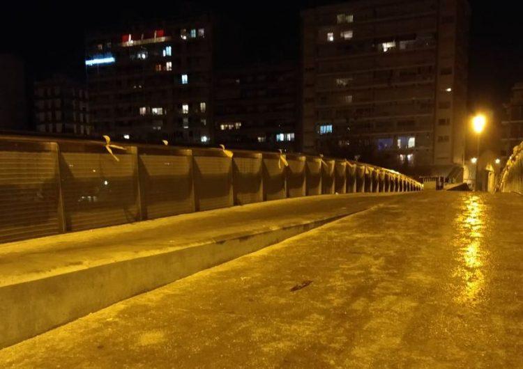 Balaguer s'omple de llaços grocs per reclamar la llibertat dels empresonats