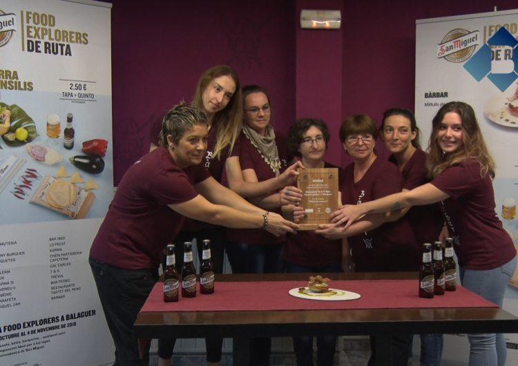 La Cafeteria Bàrbar guanyadora de la II edició de la ruta de la tapa 'Food Explorers'
