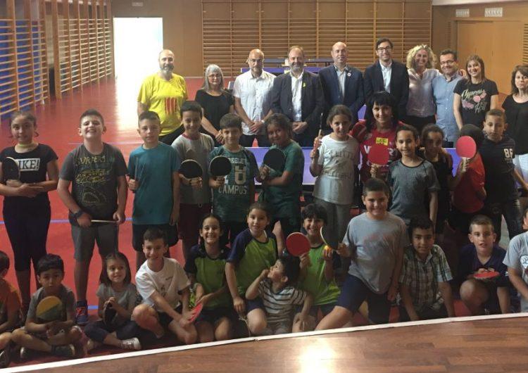 Balaguer acull la cloenda del Programa Tennis Taula a les Escoles