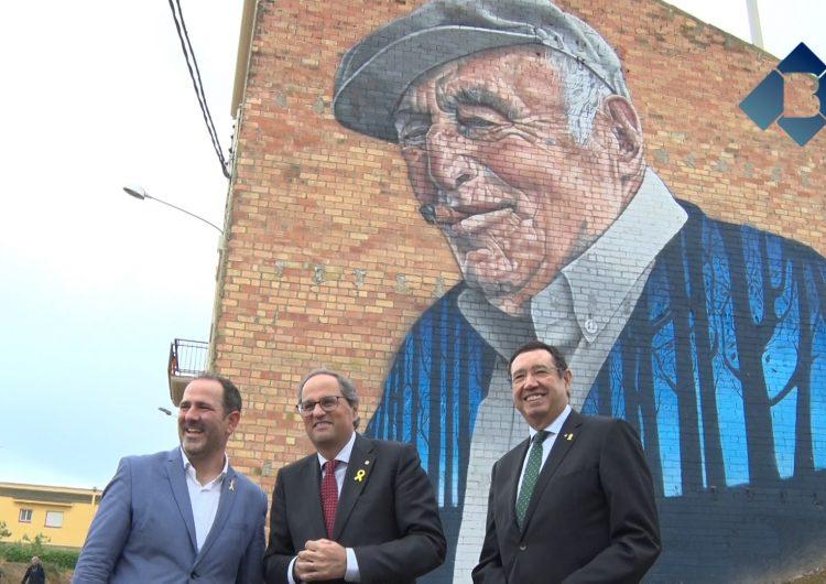 Quim Torra visita la 4a edició del GarGar Festival de Murals i d'Art Rural de Penelles