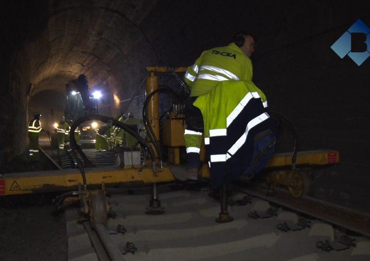 FGC renova les vies dels túnels de la línia Lleida-La Pobla de Segur