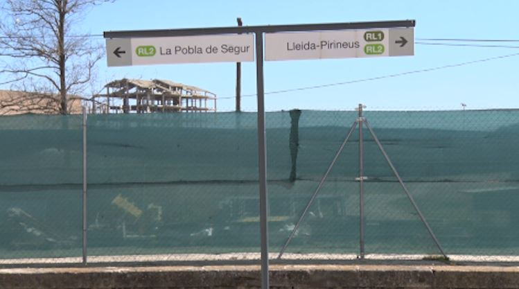 La línia de tren Balaguer-La Pobla de Segur, de nou interrompuda