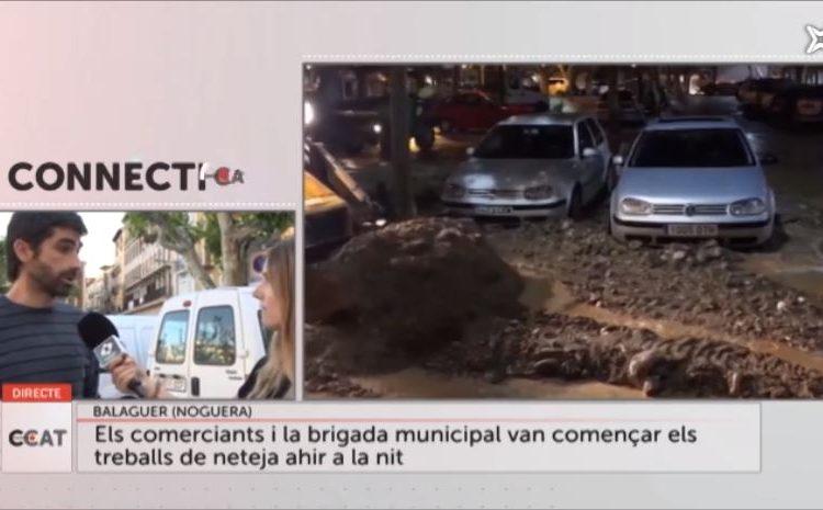 Les conseqüències de la tromba d'aigua a Balaguer, a Connecti.cat