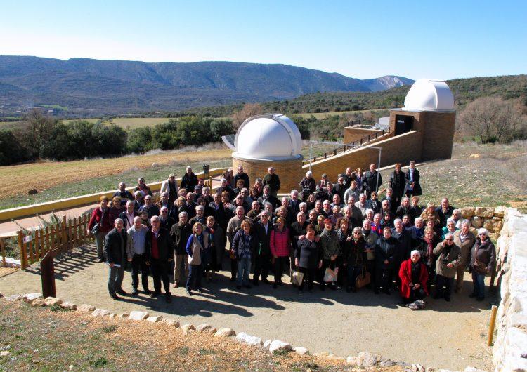 L'Associació de Veterans del Barça visita el Centre d'Observació de l'Univers