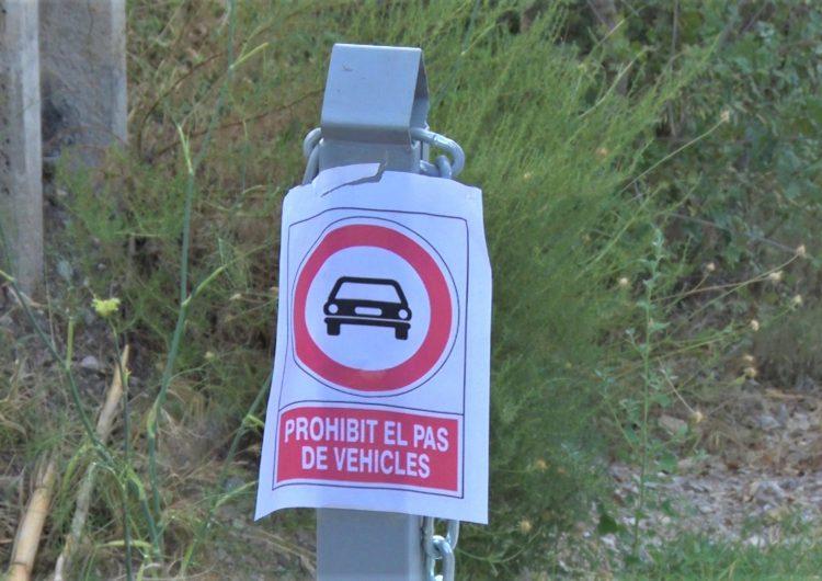 Prohibeixen l'accés de vehicles a la zona recreativa Maria Rúbies de Camarasa