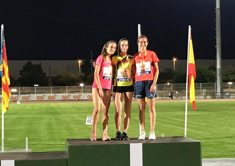 Aida Alemany es penja la medalla de plata al campionat d'Espanya sub18
