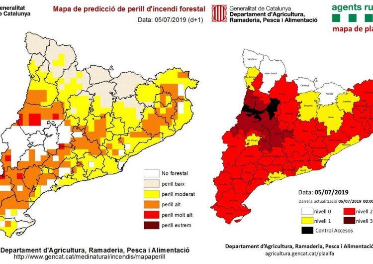 Protecció Civil activa els plans PROCICAT per onada de calor i INFOCAT per risc d'incendi