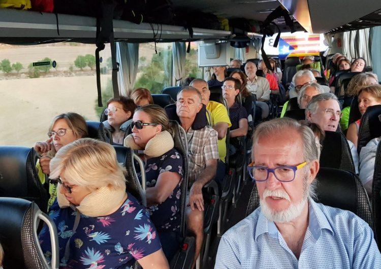 El bus de l'ANC de Balaguer, de camí a la concentració d'Estrasburg