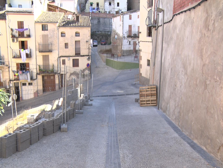 Obert al trànsit el carrer Santa Maria un cop finalitzades les obres de la taxa turística