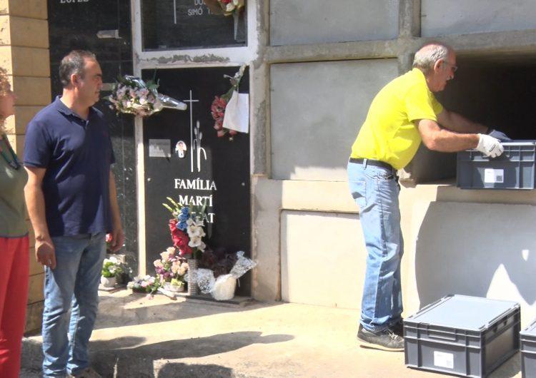 Vilanova de Meià enterra els tres soldats republicans morts a les trinxeres de la Guerra Civil