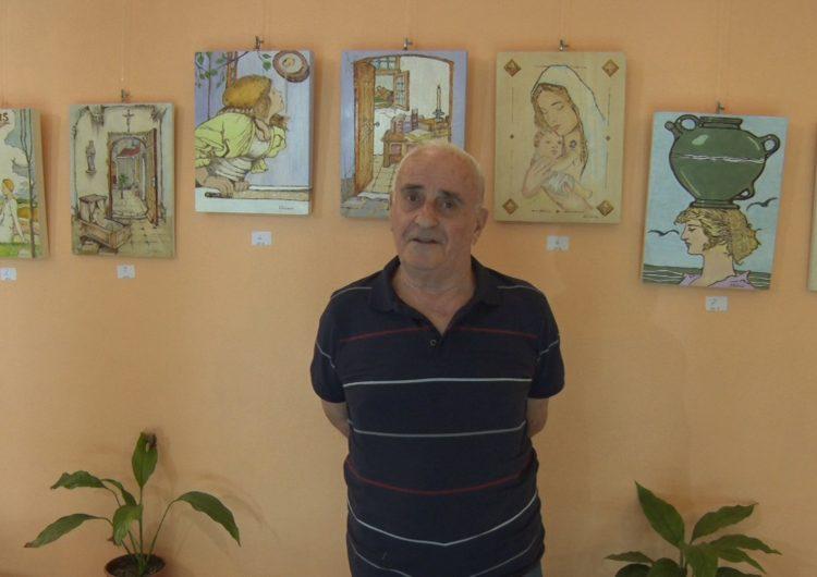 """Exposició de Jaume Solsona """"Decoració sobre fusta"""" al Monestir de les Avellanes"""
