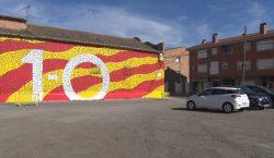 Bellcaire d'Urgell estrena un mural commemoratiu de l'1 d'Octubre