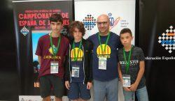 Josep Oms, al Campionat d'Espanya com a entrenador dels equips…