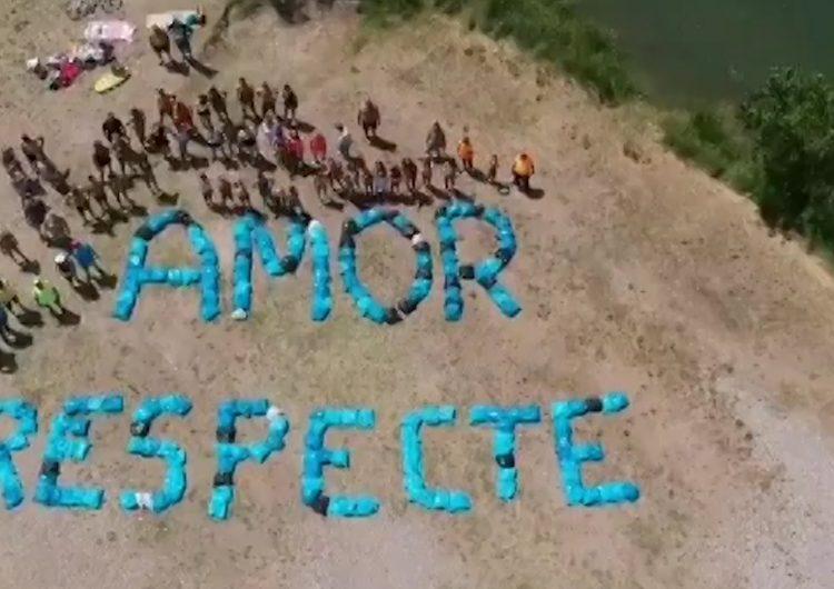 """Camarasa protesta en contra de la massificació i l'incivisme a la """"Platgeta"""""""