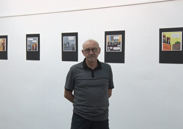 Exposició de còmics de Rafel Molina sobre el judici del procés